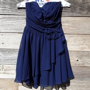 B. Darlin Junior Strapless Dress Blue junior sz 4